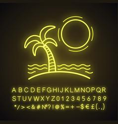 island neon light icon vector image