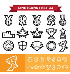 Line icons set 33 vector image