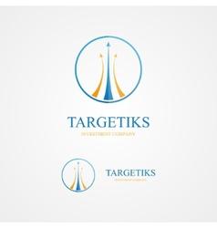 logo combination a arrows and circle vector image