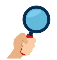 Lupe magnifying glass hand vector