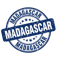 Madagascar blue grunge round vintage rubber stamp vector