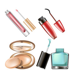 Makeup cosmetics make-up accessory icons vector