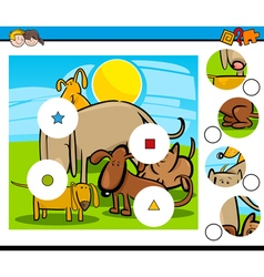 Match the pieces task vector