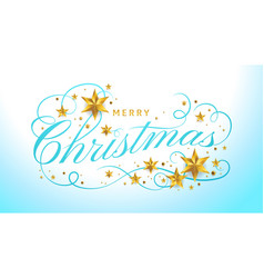 merry christmas lettering template greeting or vector image