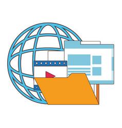 multimedia technology symbols vector image