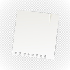 Old paper sheet isolated on transparent background vector