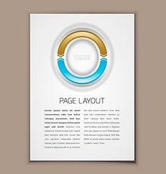 Page Layout vector