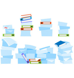 Paperwork work with stacks documents and data vector
