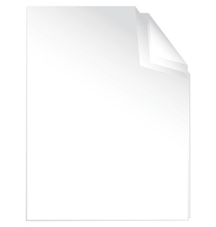 peaces of white paper vector image