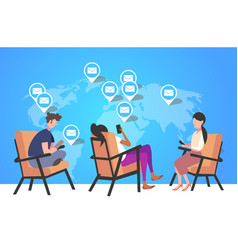 people using cellphone for checking email letters vector image