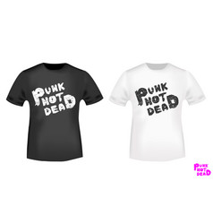 punk not dead t-shirt print stamp vector image