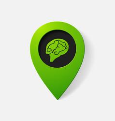 Realistic color pointer brain vector