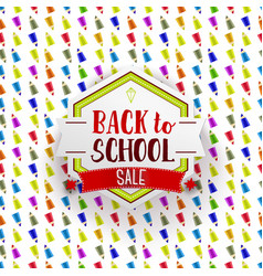 retro back to school sale banner vector image