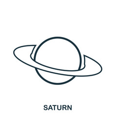 saturn icon flat style icon design ui vector image