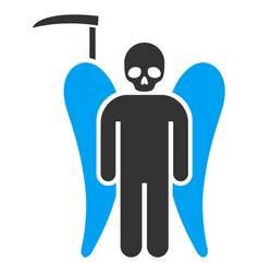 Scythe death angel flat icon vector