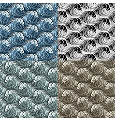 Seamless wavy pattern vector