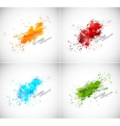 Set of grunge backgrounds vector image