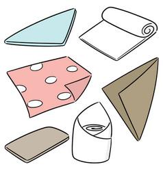 Set of napkin vector
