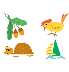 set of small pictures of nature vector image