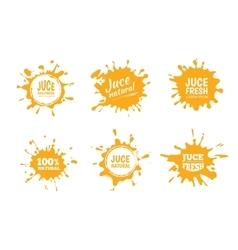 set of Yellow juice or honey vector image