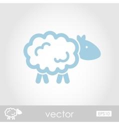 Sheep icon vector