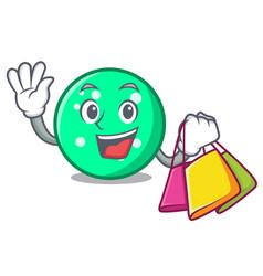 shopping circle character cartoon style vector image