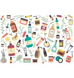 Skincare doodle set vector