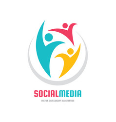 Social media - logo template concept vector