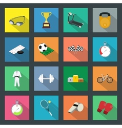 Sport flat icons set vector image