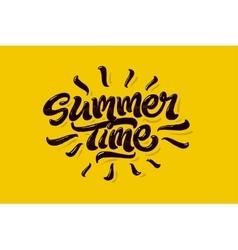 Summer time lettering logo vector