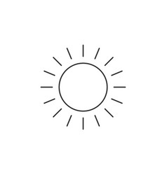 Sun line icon outline linear style pictogram vector