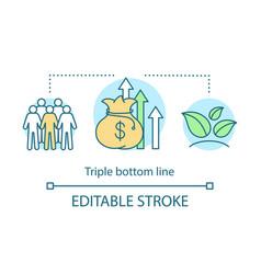 Triple bottom line concept icon vector