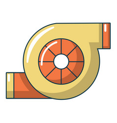 Turbo charger icon cartoon style vector