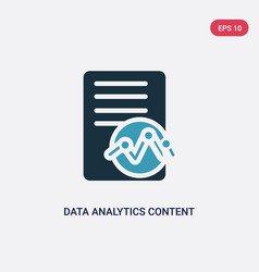 two color data analytics content icon from user vector image