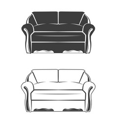 two comfortable sofa vector image