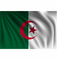 Waving algeria vector