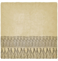 wheat harvest old background vector image
