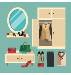 Woman Clothes Set vector image