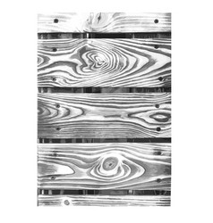 Wooden texture black white wood grain background vector