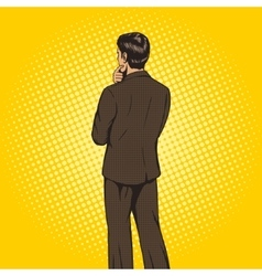 Businessman chooses pop art style vector image vector image