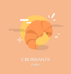 famous french cuisine croissants vector image vector image