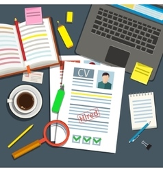Job interview concept vector