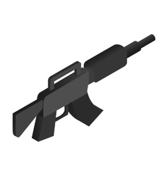 Machine gun isometric 3d icon vector image