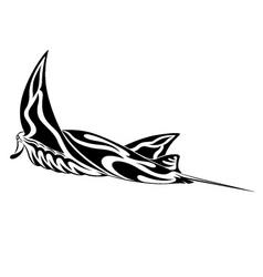 manta ray tribal tattoo vector image