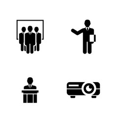 Presentation simple related icons vector