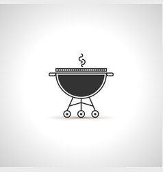simple grill icon black emblem vector image