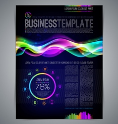 Template page design with colorful abstract shape vector image vector image