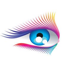 abstract eyelashes vector image