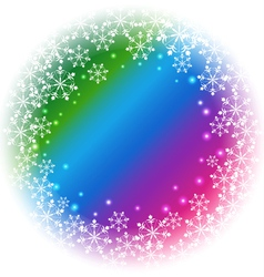 Abstract Snowflakes on colorful background vector image vector image