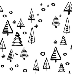 christmas tree seamless pattern vector image vector image